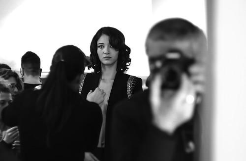 Woman fashion week Milan
