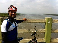Cycling to Belapur Fort - Flamingo watching at Airoli