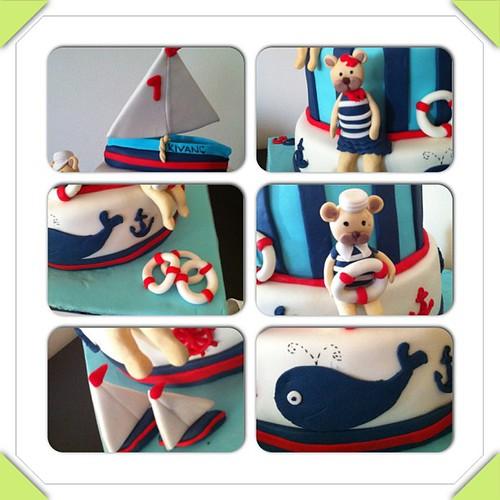 #marinthemecake #sekerhamurlupastalar #sailboat #sugarart #sugarpaste by l'atelier de ronitte