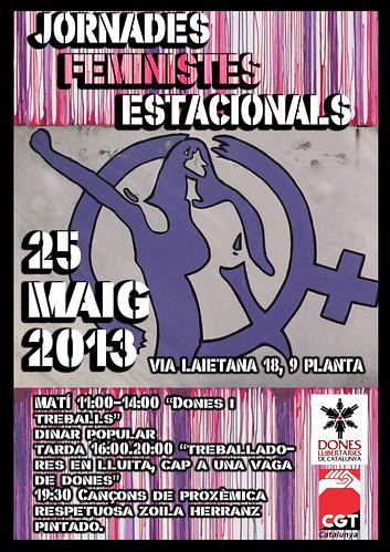 25 Maig Jornades Feministes Estacionals