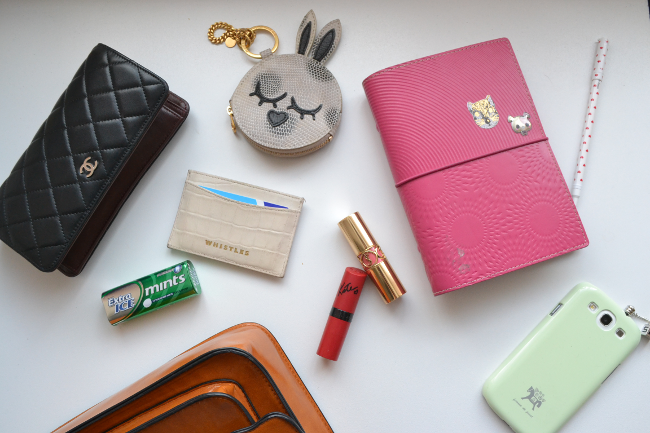 Daisybutter - UK Style and Fashion Blog: what's in my handbag, competition, moneysupermarket, chanel calfskin classic wallet, marc jacobs coin purse