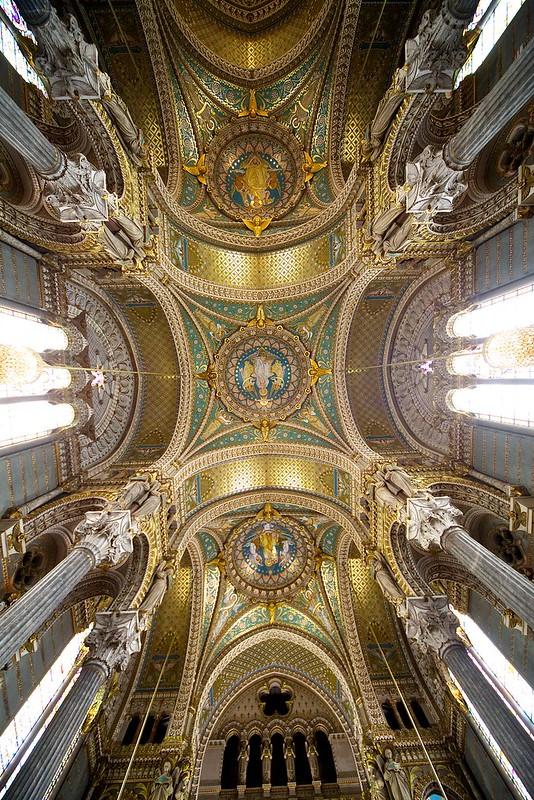 Ceiling Basilica Notre Dame de Fourviere