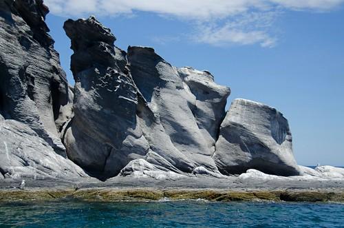 volcanic landforms, isla coronado, loreto, mexico