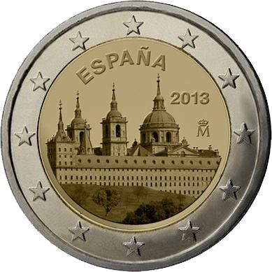 2 Euro Španielsko 2013, El Escorial