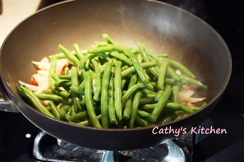 西式培根炒四季豆  Stir green bean with bacon 9