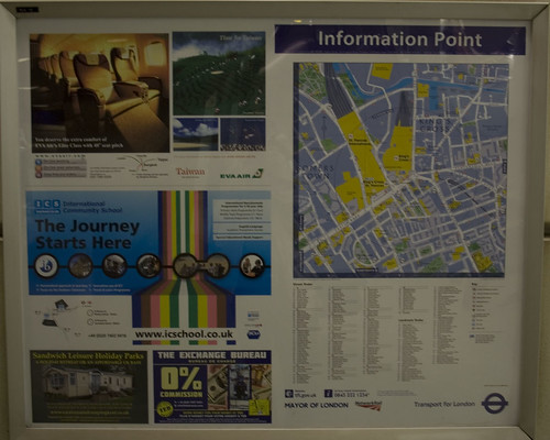Local area map at St Pancras