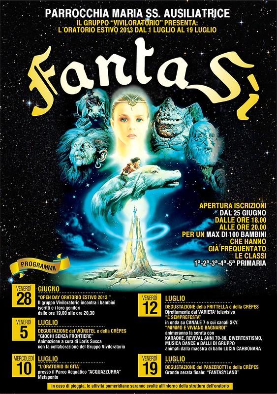 MANIFESTO ORATORIO ESTIVO 2013