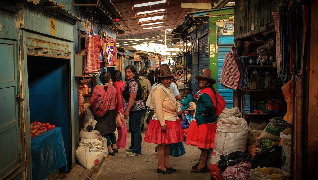 Central market. Huaraz. Peru.