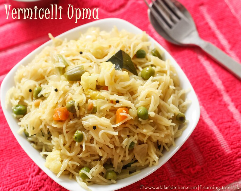 How to make Vegetable Semiya Upma