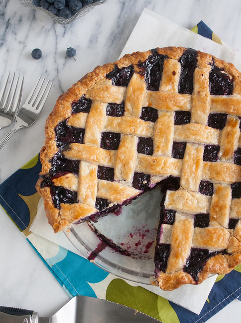 Ultimate Summer Blueberry Lattice Pie