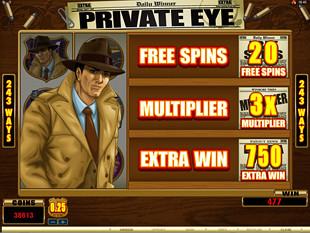 Private Eye Slot Total Win