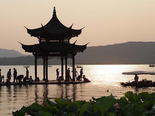 china sunset olympus westlake hangzhou 45mm xihu omd mft em5