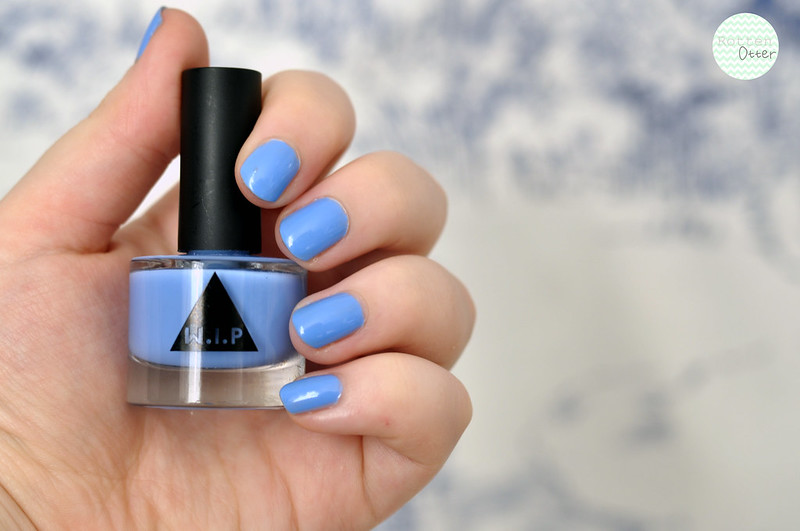 notd w.i.p urban outfitters blueberry nail polish blue creme rottenotter rotten otter blog