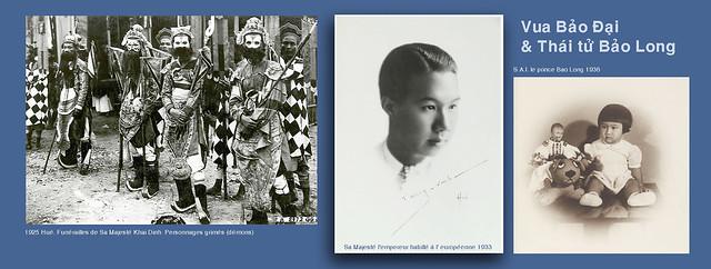 Vua Bảo Đại (1933) & Thái tử Bảo Long (1936)