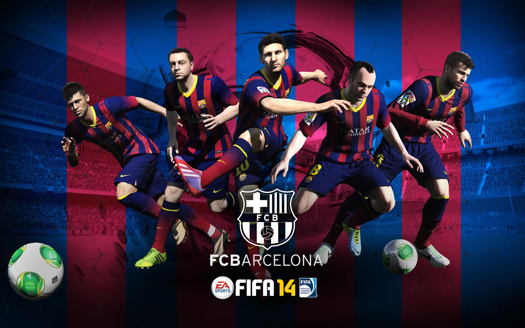Fc Barcelona Fifa 14 Wallpaper