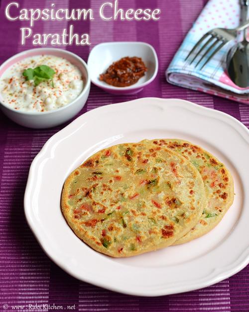 capsicum-cheese-paratha