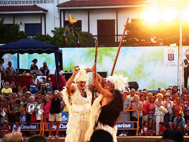 Guanches Goatherds at Fiesta in Honour of the Virgen de la Candelaria, Tenerife