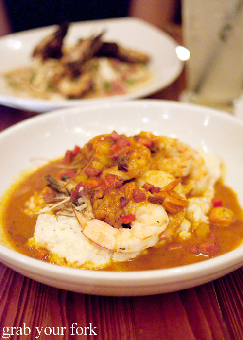 shrimp and grits at atchafalaya restaurant new orleans louisian