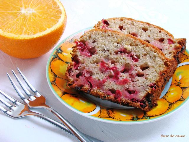 бруснично-апельсиновый кекс 2