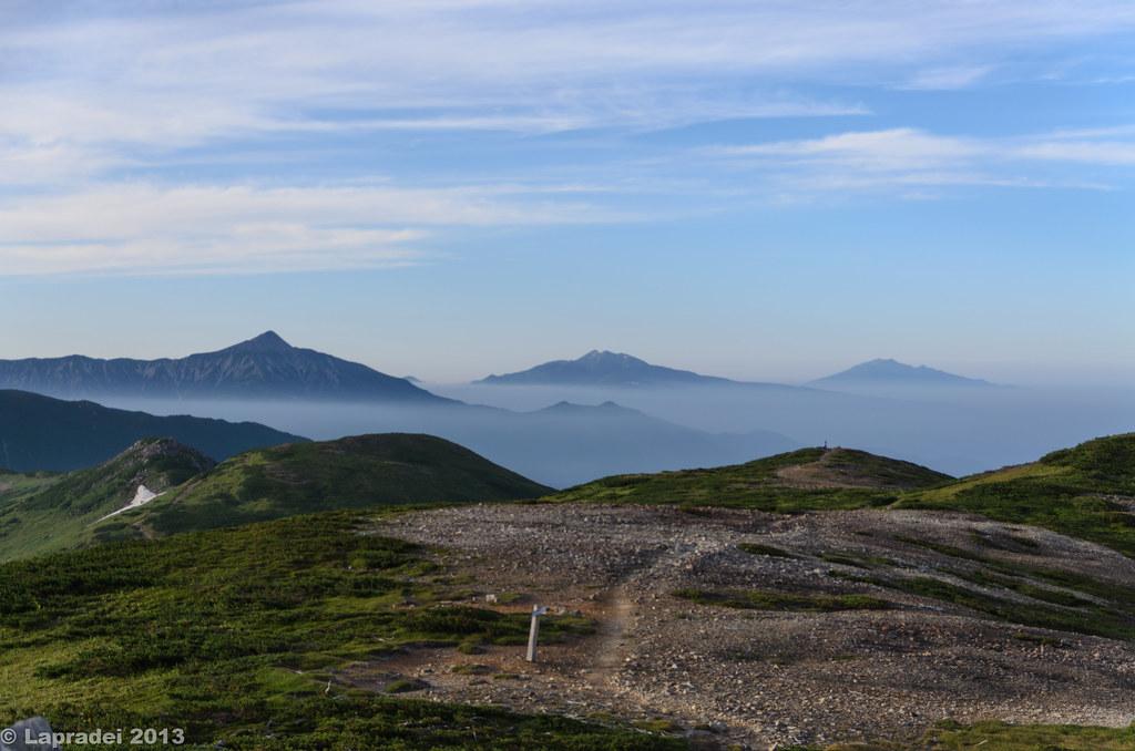 20130813 笠ヶ岳、乗鞍岳、御嶽山