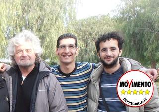 L'Abbate e Scagliusi con Beppe Grillo