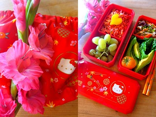 vietnamese red rice bento