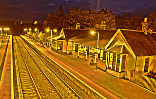 Carrbridge Railway Station HDR