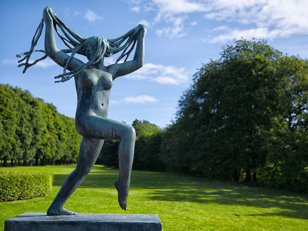 Woman at Vigeland Sculpture Park
