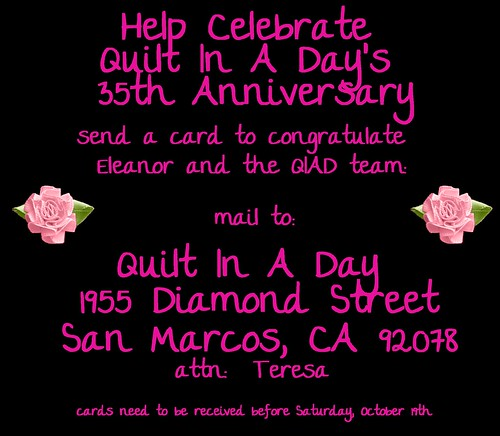 help celebrate by sending a card to QIAD
