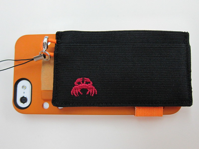 Crabby Wallet - Attached To iPhone 5