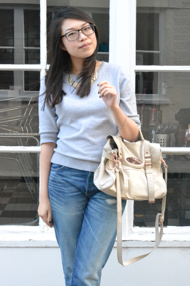 Daisybutter - UK Style and Fashion Blog: what i wore, weekend outfits, cashmere sweater, levi's boyfriend jeans
