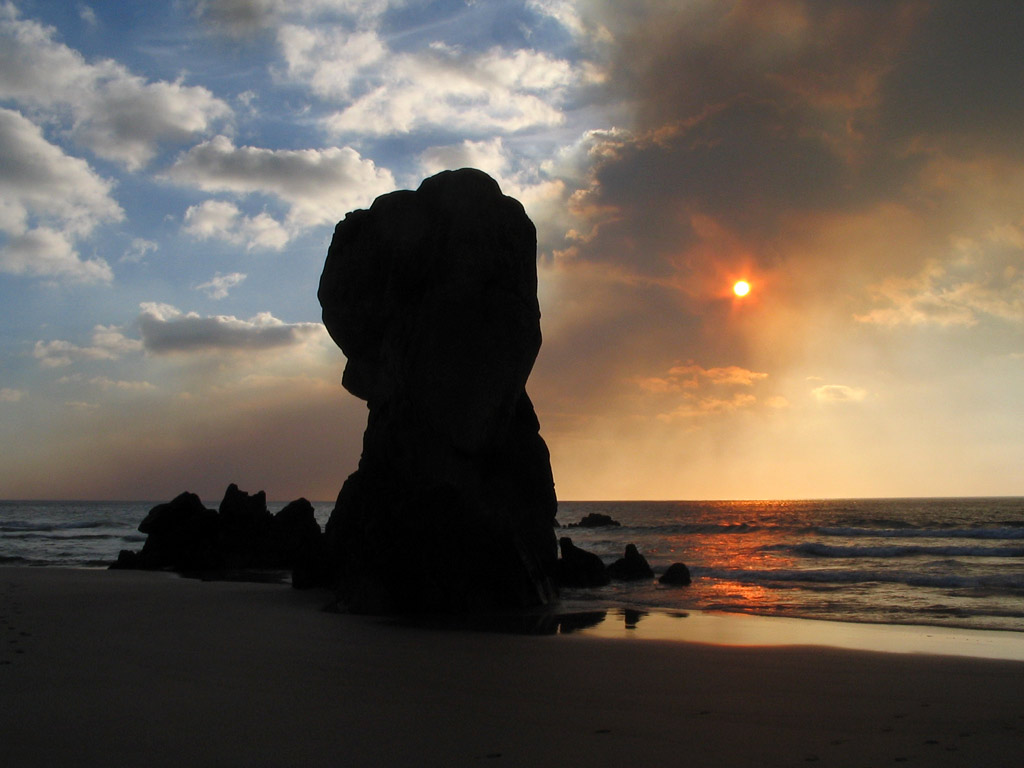 9. Playa de Lumebo, en el Ferrol. Rías Altas. Autor, Macintosh