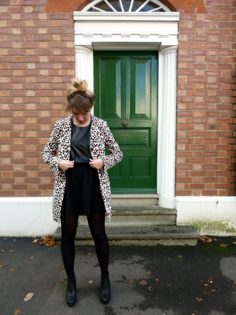 Leopard print coat | Outfit post | #fbloggers