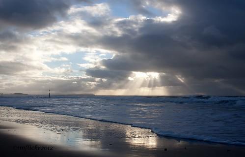 sea storm sunrise shoreline seafront boscombe canon500d 2013