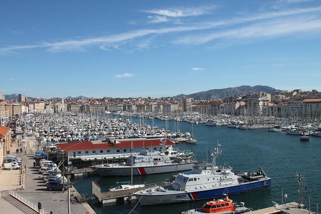 Marseille le vieux port vu du fort st jean marseille - Parking vieux port fort saint jean marseille ...