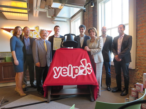 Congresswoman Pelosi attends Ribbon-Cutting Ceremony at Yelp's New Headquarters