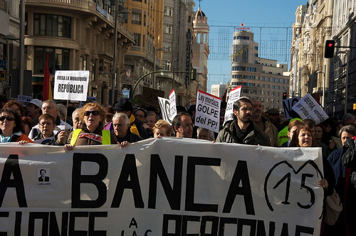 23N Protest against the Spanish banking system