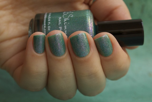 11 KBShimmer Teal Another Tail with 2 coats Eva Mosaic topcoat
