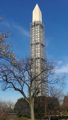 Washington Monument scaffolding by Capital Retail Group