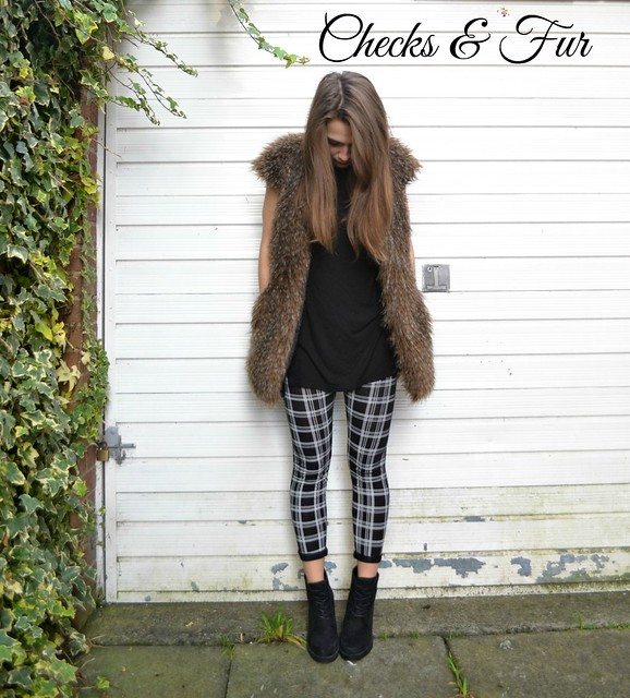 check leggings and fur 2