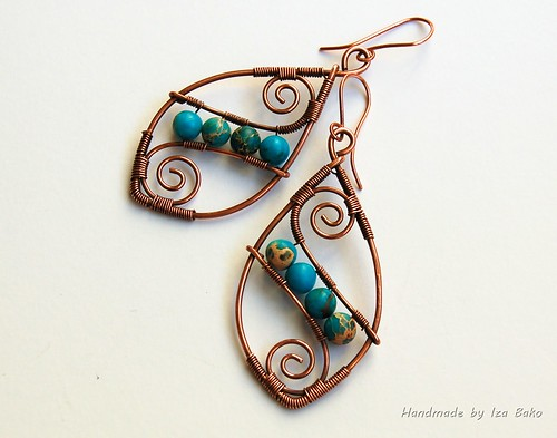 Aqua Terra Jasper with antiqued Copper