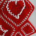 Ruffled Hearts Afghan Crochet Pattern PA231