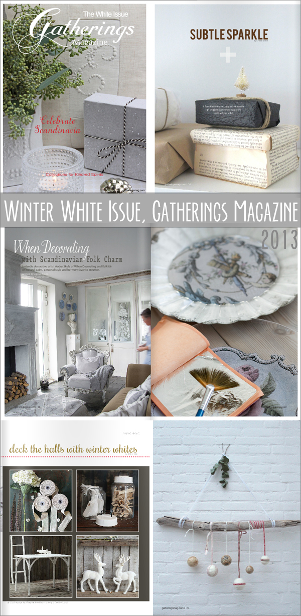 good reads : Winter White Issue, Gatherings Magazine 2013