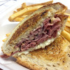 Temptation Sandwich - Corned Beef, Pastrami, Swiss Cheese, Russian Dressing, Cole Slaw on Toasted Rye