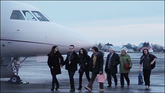 Bono & family arrive in Iceland for NY Eve 2013