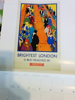 London travel poster calendar 2013