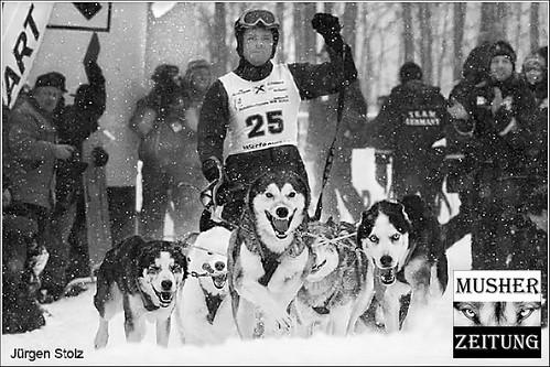 Jürgen Stolz auf dem Weg nach Kandersteg zur WSA Schlittenhunde WM