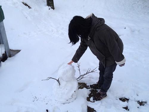 松尾山 山頂広場 雪だるま