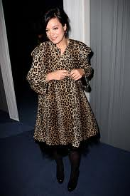 Lily Allen Leopard Print Coat Celebrity Style Women's Fashion