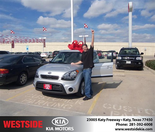 Happy Anniversary to Robert Jones on your 2013 #Kia #Soul from Damon Clayton  and everyone at Westside Kia! #Anniversary by Westside KIA